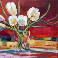 Tulips Bathed in Red